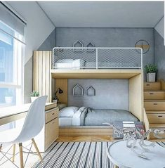Find the most cozy, modern and luxury dream rooms for kids here. Cool Kids Bedrooms, Kids Bedroom Designs, Bunk Bed Designs, Kids Room Design, Cool Rooms, Teenage Bedrooms, Small Room Bedroom, Home Bedroom, Bedroom Decor
