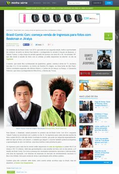 Brasil Comic Con: começa venda de ingressos para fotos com Beakman e Jiraiya