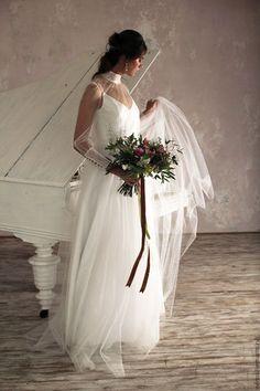 """Wedding dress / Одежда и аксессуары ручной работы. Ярмарка Мастеров - ручная работа. Купить Свадебное платье """"Белая магия"""". Handmade. Белый"""