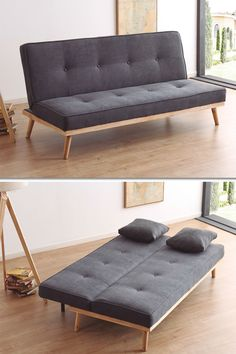 Sofa bed type book that you can find in the catalog of sofa beds in our furniture store in Madrid. Sofa Bed Design, Sofa Bed Decor, Diy Furniture Couch, Home Decor Furniture, Cheap Furniture, Home Decor Bedroom, Home Furnishings, Furniture Design, Sofa Beds