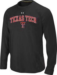Texas Tech Red Raiders Black Under Armour Catalyst Long Sleeve T Shirt   39.95 Texas Tech Football 541b5005d
