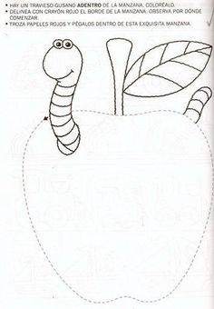 Crafts,Actvities and Worksheets for Preschool,Toddler and Kindergarten.Lots of worksheets and coloring pages. Free Kindergarten Worksheets, Preschool Worksheets, Preschool Teachers, Preschool Books, Pre Writing, Writing Skills, Fall Coloring Pages, Toddler School, Apple Theme