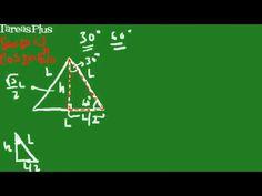 Deducción de los valores de seno, coseno y tangente para los ángulos de 30 y 60 grados