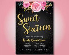 invitaciones sweet 16 – Etsy ES