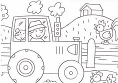farm coloring page Crafts and Worksheets for Preschool,Toddler and Kindergarten is part of Farm coloring pages - Farm Animal Coloring Pages, Coloring Book Pages, Printable Coloring Pages, Farm Animal Crafts, Farm Crafts, Art Drawings For Kids, Drawing For Kids, Craft Activities For Kids, Preschool Crafts
