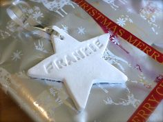 Tutorial : How to make DIY clay gift tags or Christmas tree decorations