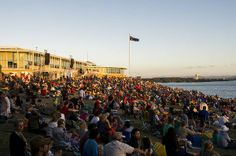 Crowds at Regatta Point in Canberra before the fireworks. Photo: Rohan Thomson