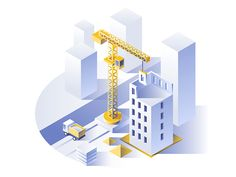 Construction of residential houses. by Dmitrii Kharchenko | Dribbble | Dribbble