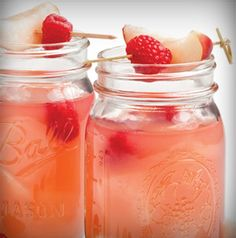 Why just have regular old lemonade when you can have Raspberry-White Nectarine Lemonade?