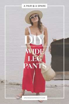 DIY Wide Leg Pants I've been wanting to make a pair of beautiful trousers with lots of movement for a while, and so. I'm excited to share with you these DIY Wide Leg Pants. Sewing Patterns Free, Free Sewing, Clothing Patterns, Sewing Pants, Sewing Clothes, Easy Sewing Projects, Sewing Projects For Beginners, Sewing Tutorials, Fashion Sewing