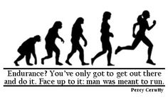 """""""Endurance? You've only got to get out there and do it. Face up to it: man was meant to run."""" Percy Cerutty, renowned Australian coach."""