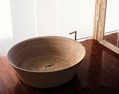 Natural stone round bathtub