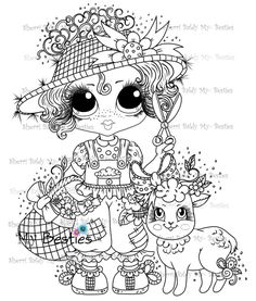 March New Product Release! Fall Coloring Pages, Adult Coloring Pages, Coloring Books, Creation Art, Types Of Craft, Digi Stamps, Drawing For Kids, Big Eyes, Colorful Pictures
