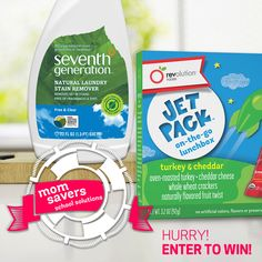Win an awesome School Time prize back filled with goodies from Seventh Generation + Revolution Foods! Hurry, the contest ends soon!