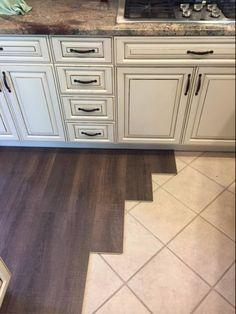 Margate Oak coretec floors installed over tile. Cork underlayment.