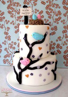 Gender Reveal Cake <3