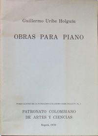 Partitura para piano de Guillermo Uribe Holguín