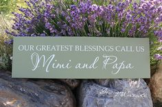 Personalize Wood Sign - Our greatest blessing call us... - Custom Wood Sign, names for Grandpa and Grandma, Grandparents gift, Mothers Day on Etsy, $34.95