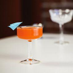 The Paper Plane: .75 oz Bourbon .75 oz Aperol .75 oz Amaro Nonino .75 oz Fresh lemon juice