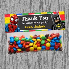 Lego Superhero Goodie Bag Topper Digital by LastingMomentsDesign, $5.00