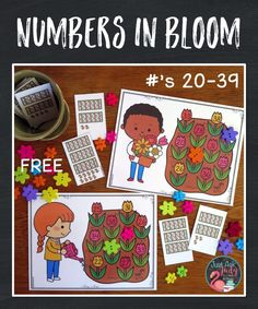 Download a free and engaging spring activity to give your kindergarten and 1st grade students practice with numerals in the twenties and thirties. Number Words, Primary Classroom, Spring Sign, Spring Activities, Grade 1, Fun Learning, Connection, Numbers, Kindergarten