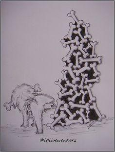 Knochenstapel stapel knochen doodle kritzelei