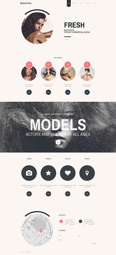 Premium Models Agency #website #template. #themes #business #responsive #websitethemes