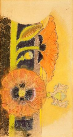 Stanisław Wyspiański, Poppy flower - polychrome in St. Francis of Assisi's… Modern Art Paintings, Modern Wall Art, Black And White Painting, True Art, Arts And Crafts Movement, Acrylic Art, Poppies, Tulips, New Art