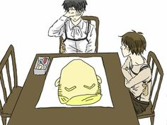 Hahahaha, i loved this!! Levi and Eren playing pin the Erwin