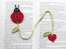 Ladybug/ladybird crochet bookmark