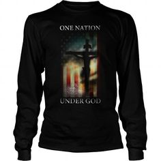 Cool and Awesome one nation under god Shirt Hoodie