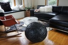 A real conversation starter! Recycled Rubber Ottoman by Design Laboratoire #recycled furniture