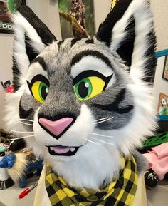 Don't hug cacti fursuit cat... meow