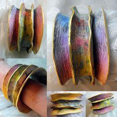 https://flic.kr/p/pbCDVq | Ruffle Cuff Bracelet | Polymer Clay Bracelet