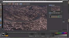 Cinema 4d — 3d city from maps tutorial [RUS]