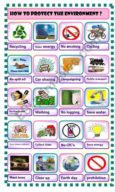 it´s a pictionary about some actions to protect the environment Pollution Environment, Environment Quotes, Save Environment, Science Worksheets, Vocabulary Activities, Teaching Activities, Grammar Worksheets, Science Quotes, Science Lessons