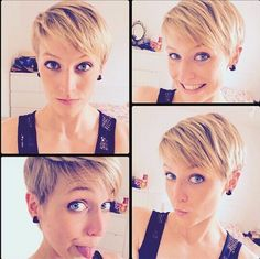 Cool Short Hairstyles & New Short Hair Trends 2017 Very Short Hair, Short Hair Styles Easy, Short Hair With Layers, Short Hair Cuts For Women, Medium Hair Styles, Short Wavy, Short Pixie, Modern Short Hairstyles, Edgy Haircuts
