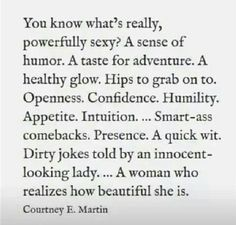 No insecurities here.....I know who I am and love everything about me!