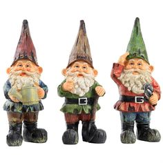 Traditional Polyresin 25cm Garden Gnome Ornaments