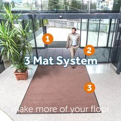 Kleen-Tex intelligence and technology in perfect harmony creates the 3 Mat System – The ultimate product combination designed to achieve maximum dirt and moisture capture in busy entrances. https://www.kleen-tex.co.uk/news/2018-3-mat-system/ #kleentex #makemoreofyourfloor #3matsystem