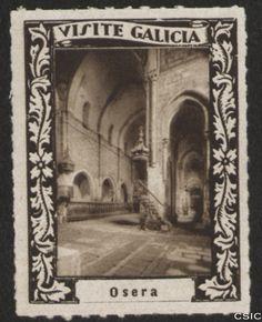 Osera (Ourense) : [Viñeta con imagen de la nave y capilla de la iglesia del Monasterio de Santa María de Oseira] / [fotógrafo, Luis Casado Fernández]. http://aleph.csic.es/F?func=find-c&ccl_term=SYS%3D001528729&local_base=MAD01