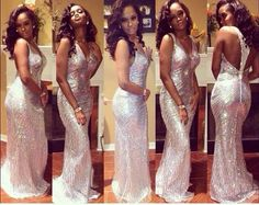 Tight-Fitting Prom Dresses   dress white silver beaded backless prom long dress tight fitting find ...