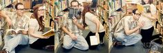 Love, love, love this Library maternity photo-shoot. Very much Peter and I when we first moved in together we'd go to the library sit and read FOREVER.  *a few times those were umm... naughty books so hahaha this would be fitting. lol {we'll have to do this!} i actually posted this before. lol