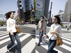 Simultaneous Street Photography From Two Different Points of View