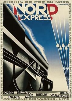 Adolphe Mouron Cassandre, Railway Poster, France, 1927