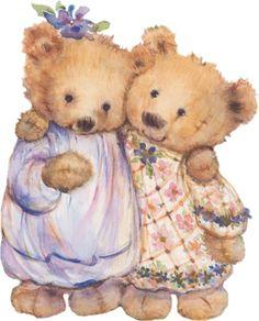 Mary's Bears, Mary Hamilton, a Hallmark-card artist. She is so talented and I love her illustrations. Teddy Bear Images, Teddy Bear Pictures, Hallmark Greeting Cards, Cute Teddy Bears, Tatty Teddy, Bear Art, Cute Illustration, Fabric Painting, Round Stickers