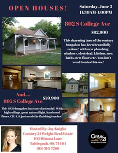 #ednasells, Tahlequah Homes, Oklahoma Homes, Open House