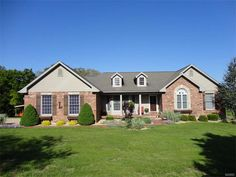 BEAUTIFUL BRICK COUNTRY HOME on 25.25 acres, only 3.5 miles from town! Open floor plan w/oak floors in the living room & dining room. Eat-in kitchen w/bay window, pantry, island, oak cabinets & lovely oak hutch. Stove, fridge, microwave, dishwasher & disposal. Quality Andersen windows & 2 Andersen sliders plus 2 transom windows. Recessed lighting, cathedral ceiling in living room & part of bedroom 3 on the main floor (currently used as an office). Master bath has a whirlpool tub in Salem MO