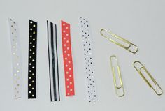 Easy to make fabric paper clips for your Bible journaling.