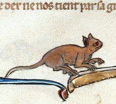 Ever Noticed How Ugly Medieval Cat Paintings Are? Medieval World, Medieval Art, Medieval Books, Medieval Manuscript, Illuminated Manuscript, Ugly Cat, Old Best Friends, Medieval Tapestry, Book Of Hours